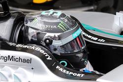 Nico Rosberg, Mercedes AMG F1 W05 en parc ferme