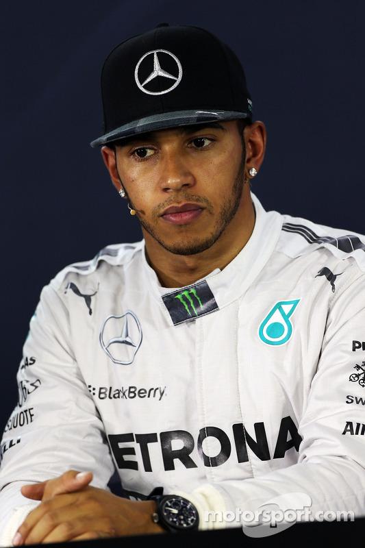 Lewis Hamilton, Mercedes AMG F1, na Conferência de Imprensa da FIA