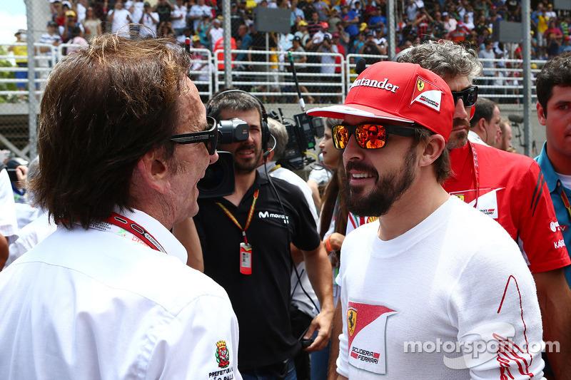 Emerson Fittipaldi, e Fernando Alonso, Ferrari