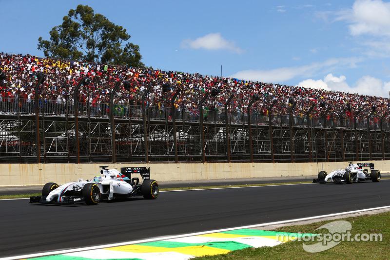Felipe Massa, Williams FW36 ve Valtteri Bottas, Williams FW36