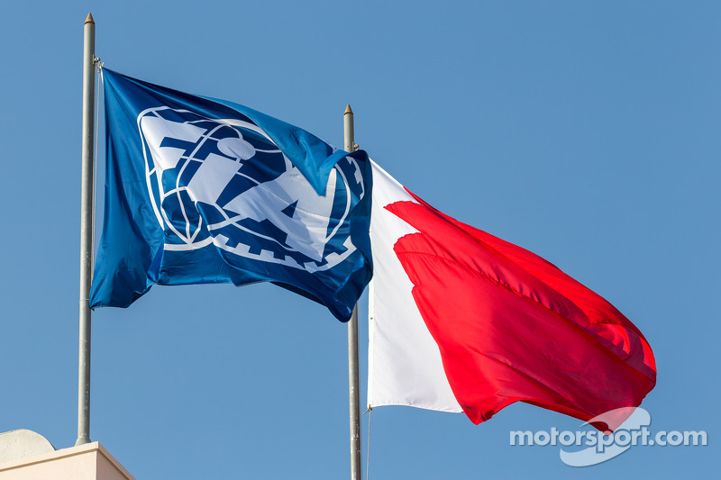 FIA flag waves in Bahrain