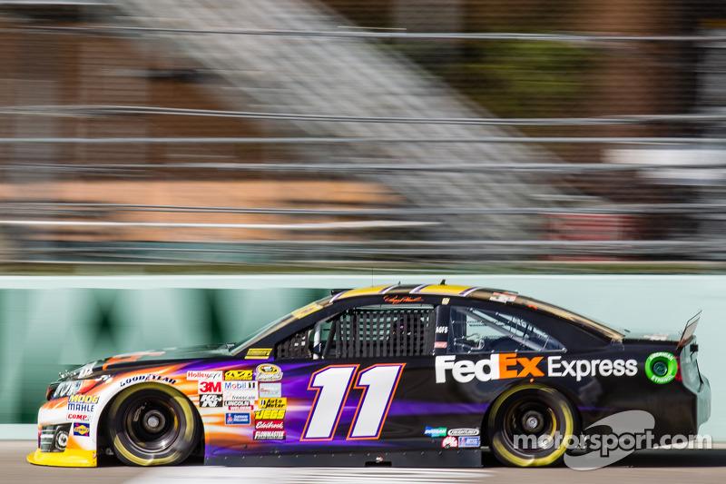 Denny Hamlin (Gibbs-Toyota): Dritter mit P7 im Rennen