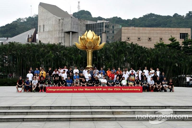 2014 Macau Grand Prix Photoshoot - Lotus Plaza