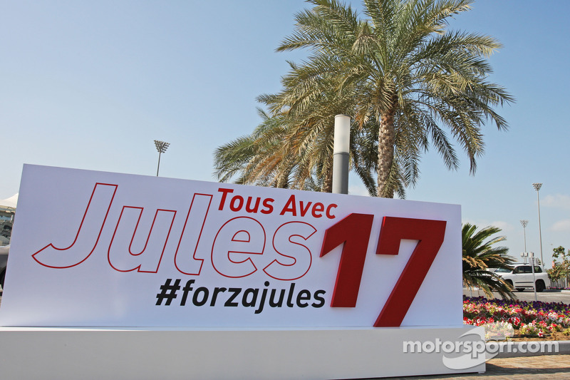 A message of support from the circuit for Jules Bianchi