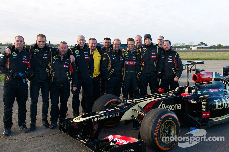 Martin Ivanov, stuntman e la squadra Lotus F1