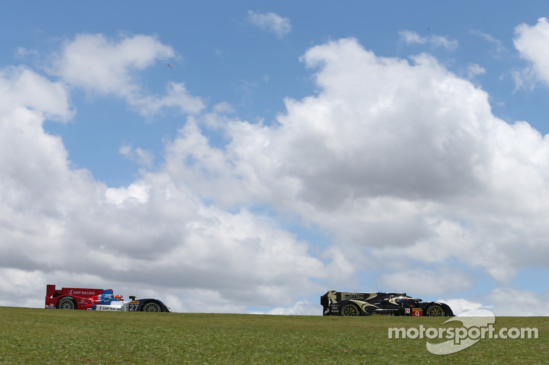 #27 SMP Racing Oreca 03 - Nissan: Serguey Zlobin, Nicolas Minassian, Maurizio Mediani, #9 Lotus CLM