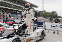Race winner Neel Jani, Porsche Team celebrates
