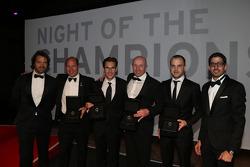 Blancpain winners: Stéphane Ratel, Vincent Vosse, Laurens Vanthoor, Hugo da Silva
