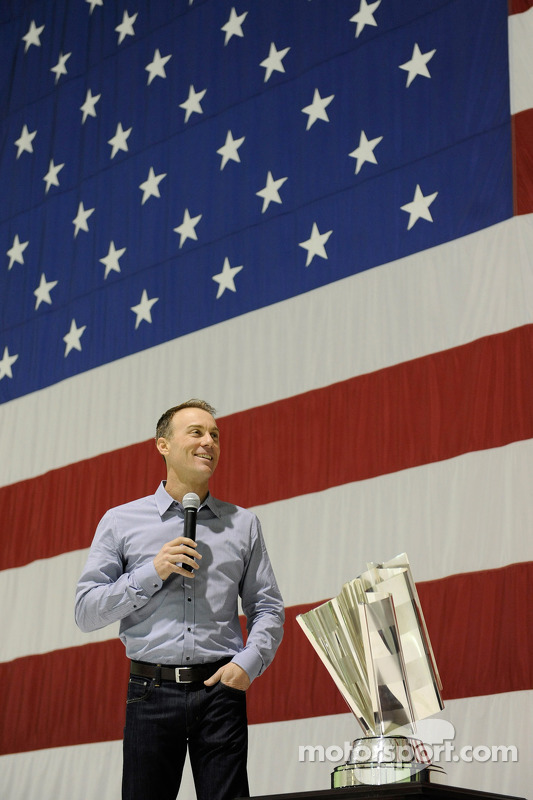 2014 champion Kevin Harvick, Stewart-Haas Racing speaks at Nellis Air Force Base