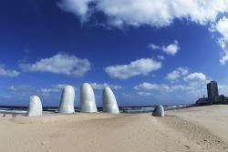 Arte interesante en la playa