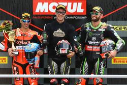 Marco Melandri, Aruba.it Racing-Ducati SBK Team, Jonathan Rea, Kawasaki Racing, Tom Sykes, Kawasaki Racing