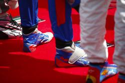 Les chaussures de Brendon Hartley, Toro Rosso