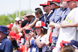 Des fans de Lance Stroll, Williams Racing, dans une tribune