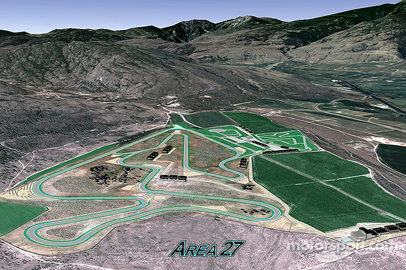 Area 27, eine neue Rennstrecke, die in Osoyoos, British Columbia, Kanada, gebaut werden soll