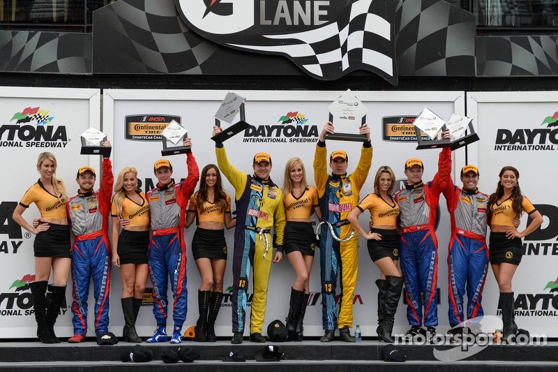 #6 Stevenson Motorsports,科迈罗Z/28.R: Robin Liddell, Andrew Davis, #13 Rum Bum Racing,保时捷997: Matt Plumb, Hugh Plumb和#9 Stevenson Motorsports,科迈罗Z/28.R: Lawson Aschenbach, Matt Bell
