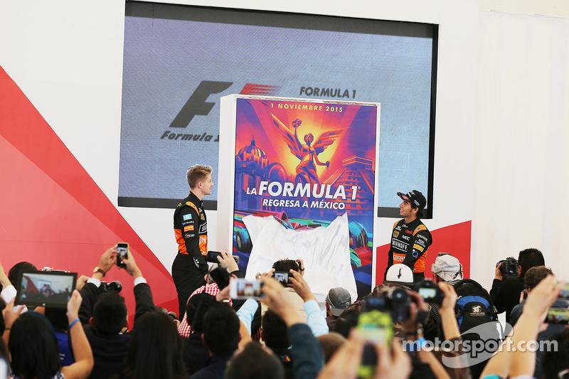 Nico Hülkenberg, Sahara Force India F1, mit Teamkollege Sergio Perez, Sahara Force India F1