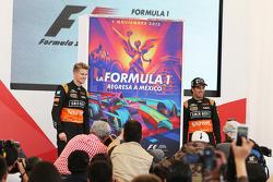 نيكو هلكنبرغ، سهارا فورس إنديا للفورمولا 1 وزميله سيرجيو بيريز، سهارا فورس إنديا للفورمولا 1 في مؤتم