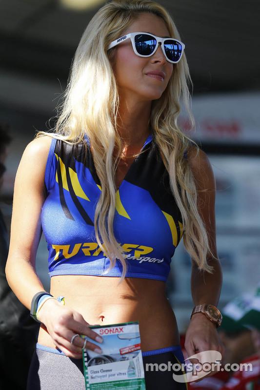 Bezauberndes Turner-Motorsports-Girl
