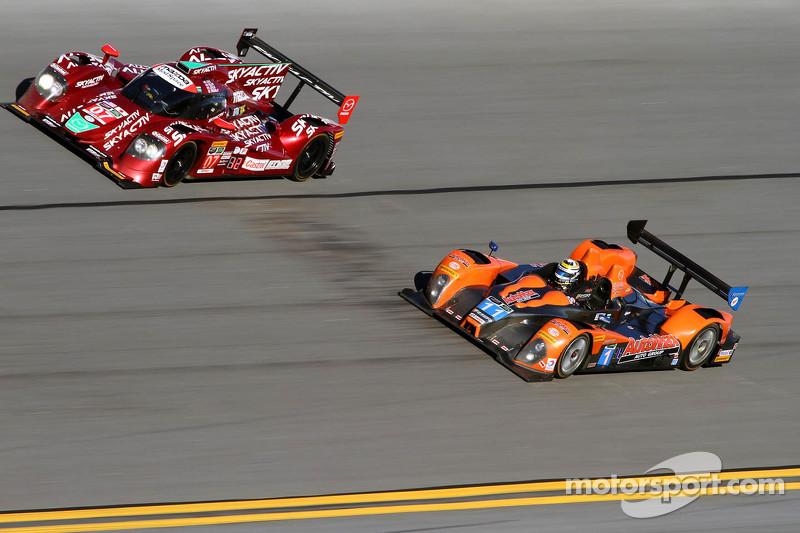 #07 SpeedSource Mazda Prototype: Joel Miller, Tom Long, Ben Devlin, Sylvain Tremblay, #11 RSR Racing