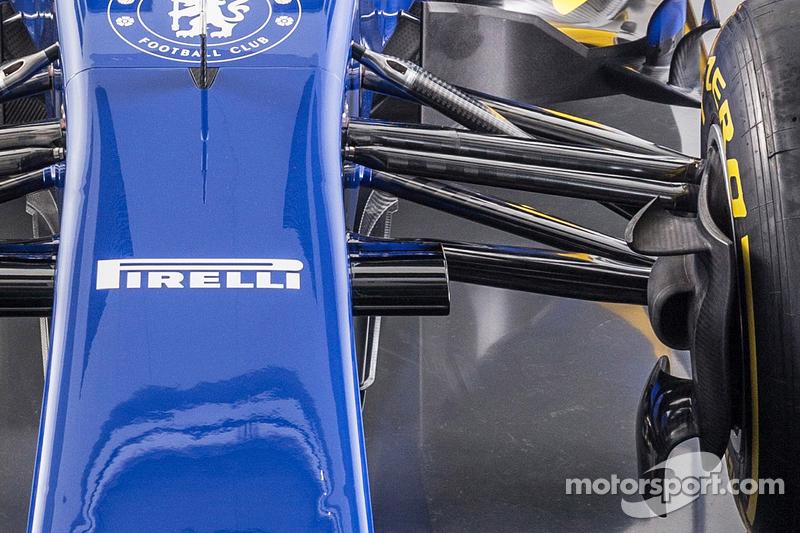 Detail vom neuen Sauber C34-Ferrari
