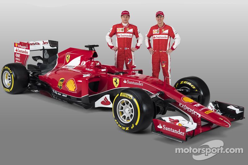 Kimi Räikkönen, Sebastian Vettel, mit dem Ferrari SF15-T