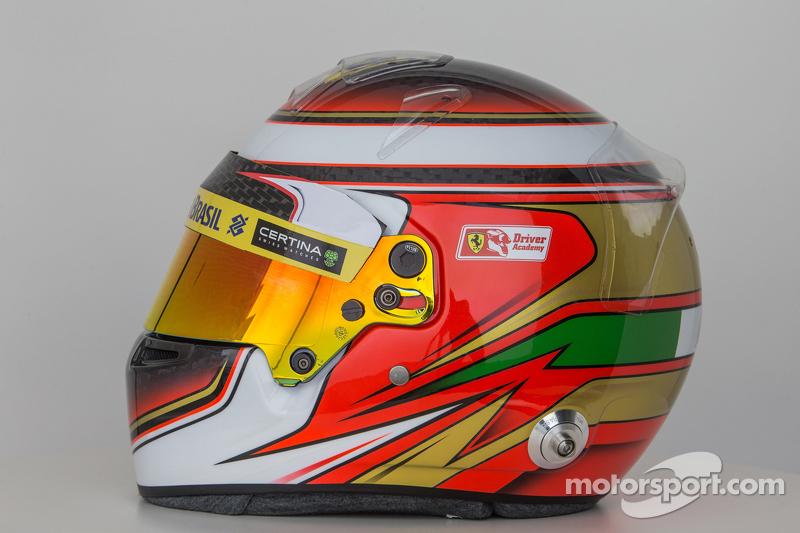 Der Helm von Raffaele Marciello, Sauber F1, Team Test- und Ersatzfahrer