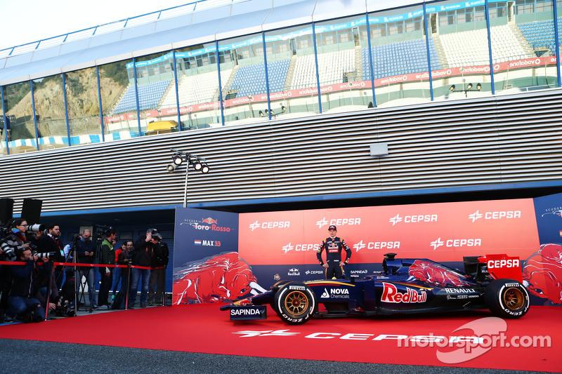 Max Verstappen, Scuderia Toro Rosso, mit dem neuen Scuderia Toro Rosso STR10