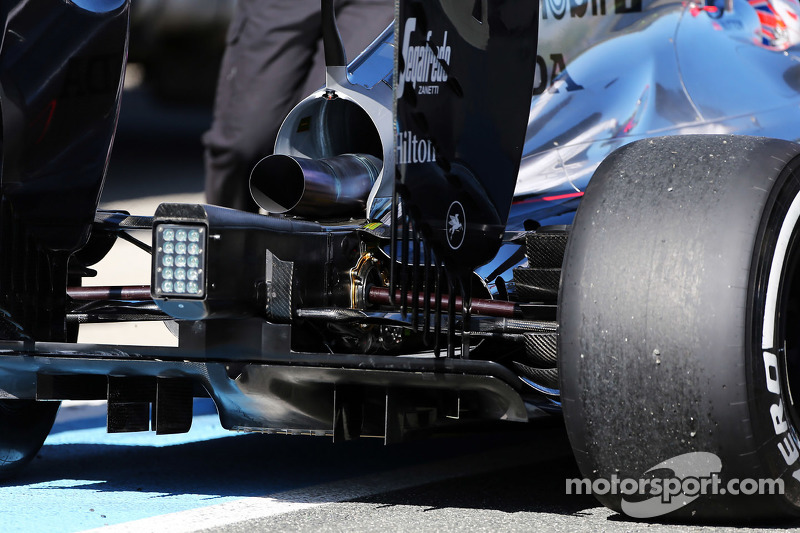 McLaren MP4-30, hinterer Diffusor, Detail
