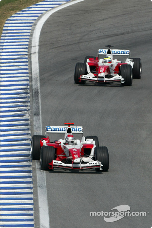 Jarno Trulli y Ricardo Zonta