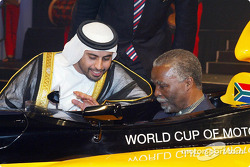 His Highness Sheikh Maktoum Hasher Maktoum Al Maktoum (UAE) CEO A1 Grand Prix and South African President Mbeki (RSA)