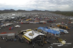 A view of the Phoenix International Raceway infield during the race