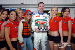 Markko Martin celebrates his 29th birthday in charming company