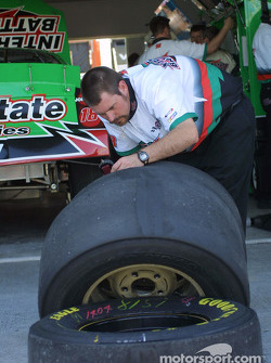 Joe Gibbs Racing crew member at work