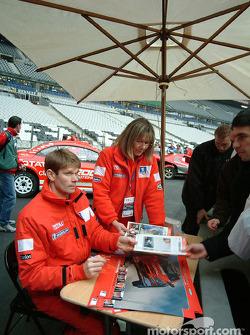 Marcus Gronholm signs autographs