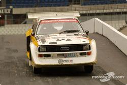 An Audi S1 rally car