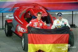 Team Germany: Michael Schumacher and Armin Schwarz