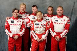 Nissan Rally Raid Team presentation: drivers Ari Vatanen, Colin McRae and Giniel De Villiers, with co-drivers Tiziano Siviero, Tina Thorner and Jean-Marie Lurquin