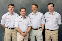 Nissan Rally Raid Team presentation: Gilles Martineau with Nissan Rally Raid Team crew members