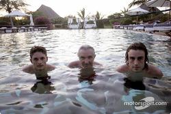 Giancarlo Fisichella, Flavio Briatore ve Fernando Alonso pool