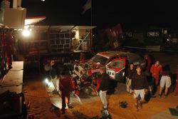 Nissan Rally Raid Team service area