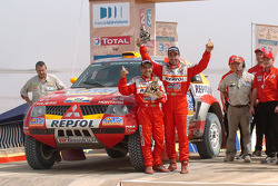 Podium: car second place Luc Alphand and Gilles Picard
