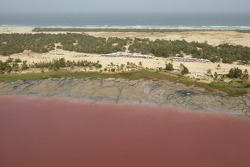 The famous Lac Rose in Dakar