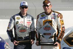 Front row for the 47th Daytona 500: pole winner Dale Jarrett with second fastest qualifier Jimmie Johnson