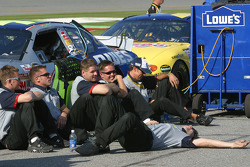 Lowe's Chevy crew members relax