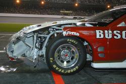 Wrecked car of Kurt Busch