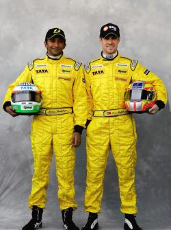 Narain Karthikeyan and Tiago Monteiro
