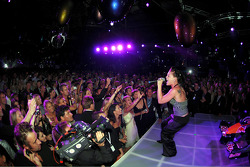 Red Bull Racing launch party: live performance by pop singer Pink