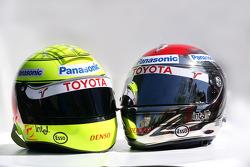 Helmets of Ralf Schumacher and Jarno Trulli