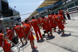 Pitstop practice for Ferrari