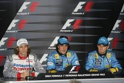 Conferencia de prensa FIA sábado: Jarno Trulli, Fernando Alonso y Giancarlo Fisichella